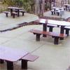 プラ擬木 ベンチ/テーブル