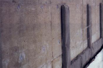 構造物裏面排水工 施工例1