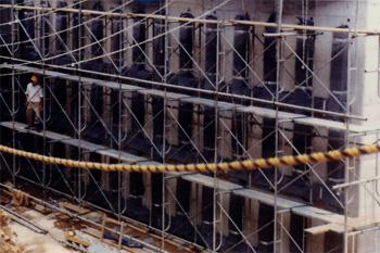 構造物裏面排水工 施工例3