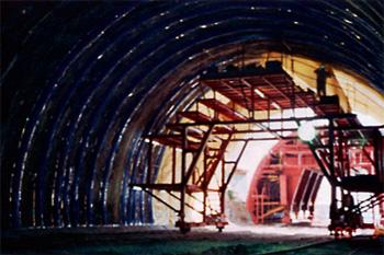 トンネル裏面排水工 施工例1
