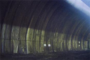 トンネル裏面排水工 施工例4