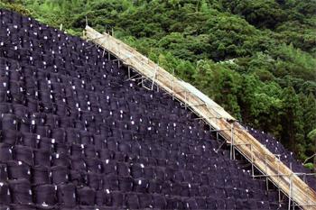 耐候性大型土のう ツートンバッグ 施工例0