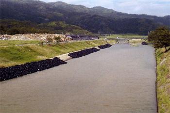 耐候性大型土のう ツートンバッグ 施工例1