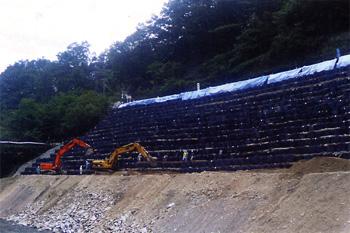 耐候性大型土のう ツートンバッグ 施工例2
