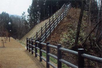 プラ擬木 柵 施工例0