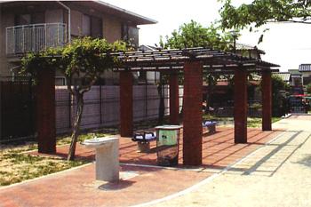 プラ擬木 藤棚 施工例0