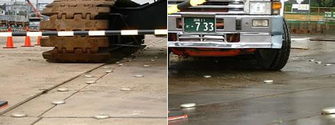リンクプレートによる施工例 / 鉄板の堅結状況