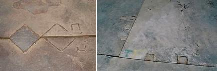 溶接跡の例