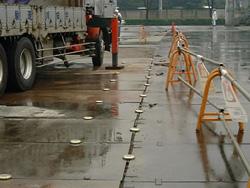 雨の日の施工例
